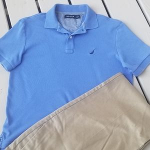 S blue Nautica mens polo shirt